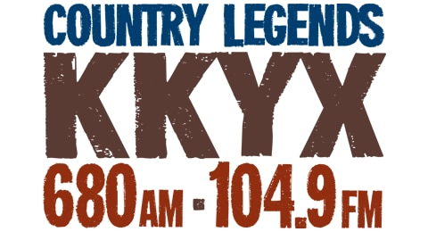 680AM 104.9FM KKYX - Country Legends Logo